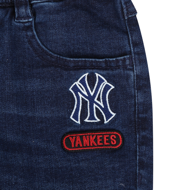 NEW YORK YANKEES UNISEX ROLL-UP DENIM PANTS