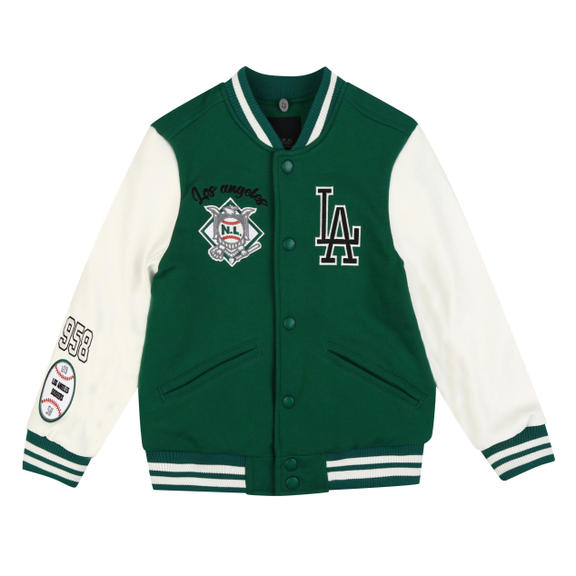 LA DODGERS UNISEX CAMPUS MONSTER VARSITY JACKET