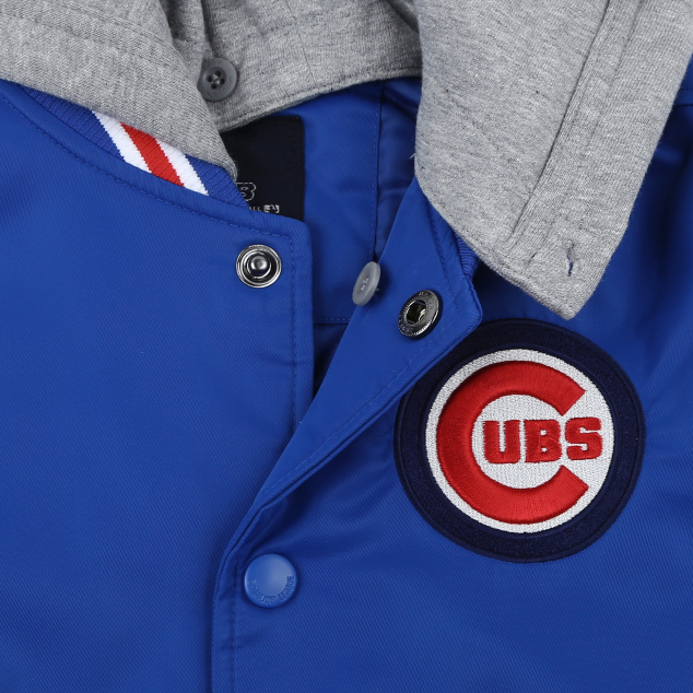 CHICAGO CUBS UNISEX COOPERS HIPSTER VARSITY JACKET