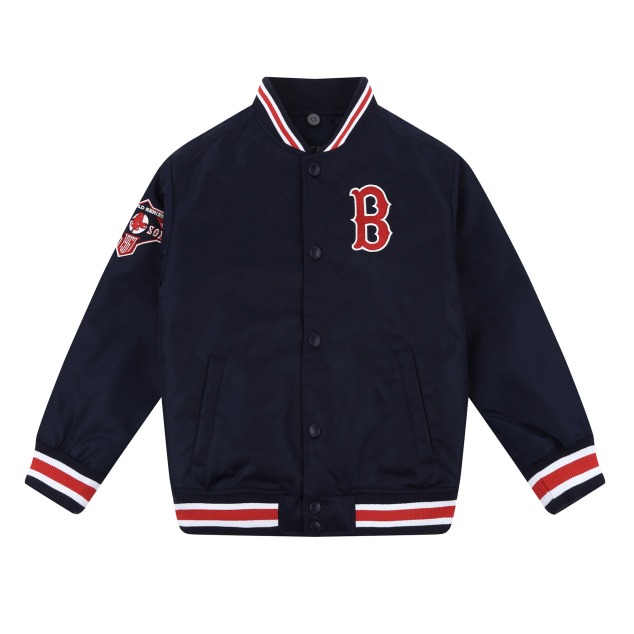 BOSTON RED SOX UNISEX COOPERS  HIPSTER VARSITY JACKET