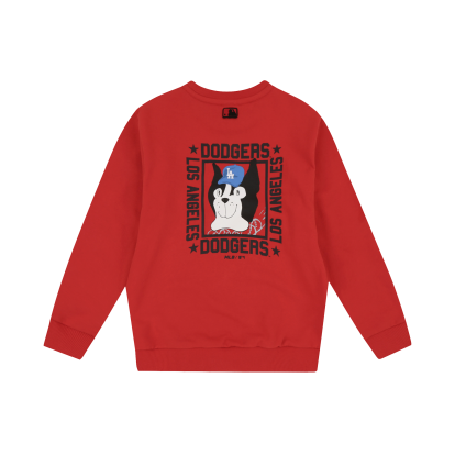 LA DODGERS UNISEX BACK DRAWING BARK SWEATSHIRT