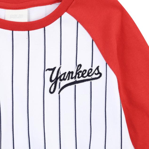 NEW YORK YANKEES UNISEX COOPERS LOGO RAGLAN T-SHIRT