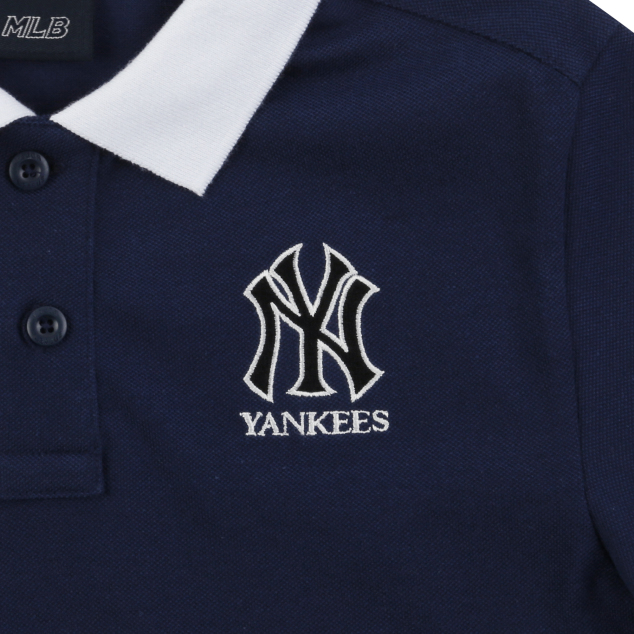 NEW YORK YANKEES UNISEX BACK TAPE COLLAR SHORT SLEEVE T-SHIRT
