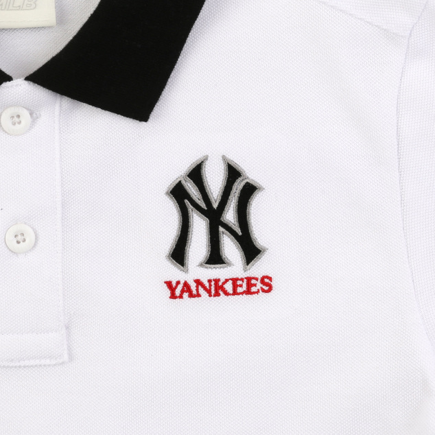NEW YORK YANKEES UNISEX BACK TAPE COLLAR SHORT SLEEVE T-SHIRT