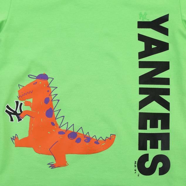 NEW YORK YANKEES UNISEX NEON KINO SHORT SLEEVE T-SHIRT