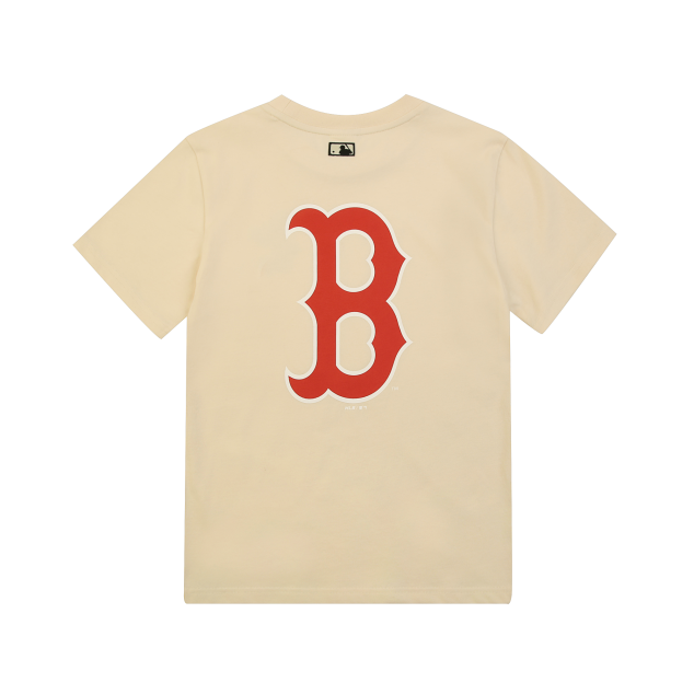 MLB x DISNEY 미키마우스 등판 빅로고 티셔츠 보스턴레드삭스