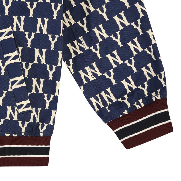 모노그램 패턴 점퍼 뉴욕양키스