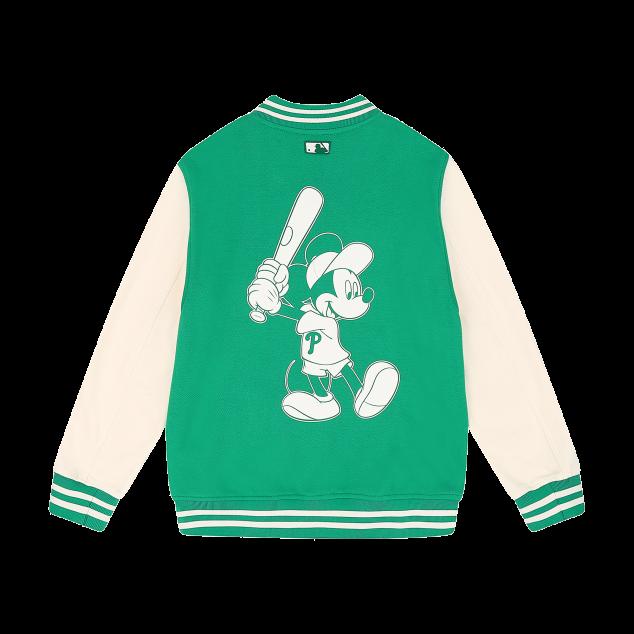 MLB x DISNEY 미키마우스 배색 베이스볼 점퍼 필라델피아필리스