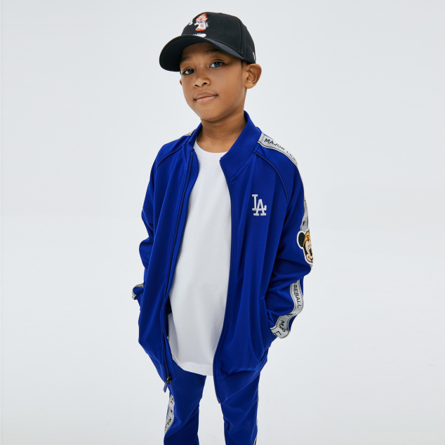 MLB x DISNEY 미키마우스 테잎 트레이닝 집업 LA다저스