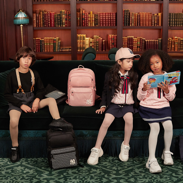 모노그램 스퀘어 뉴욕양키스 책가방