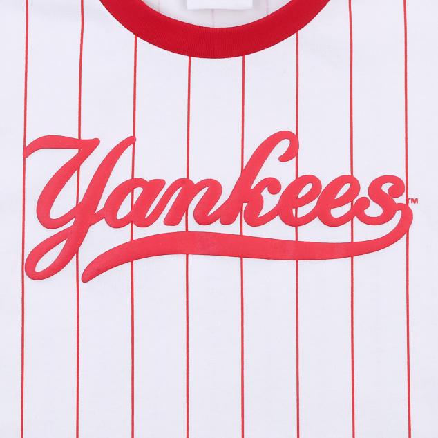 여아 스트라이프 컬시브 티셔츠 뉴욕양키스