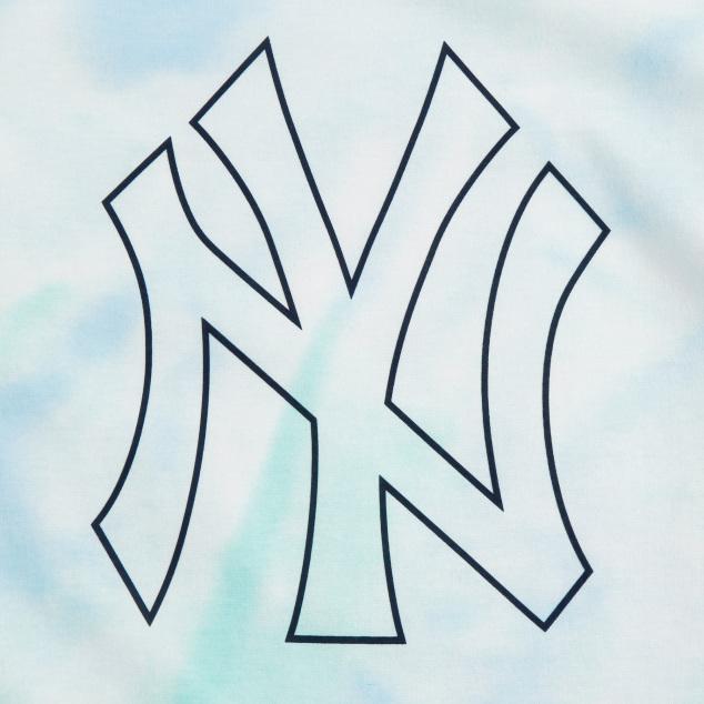 라인빅로고 워터다잉 반팔 티셔츠 뉴욕양키스