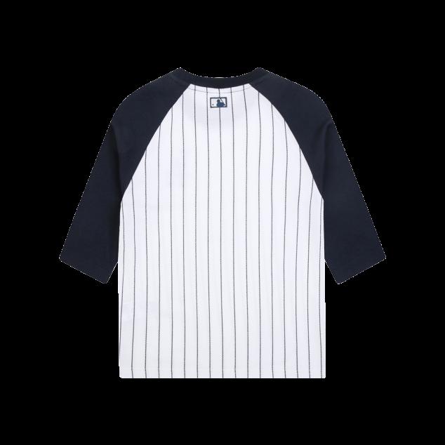 스트라이프 라글란 7부 티셔츠 LA다저스