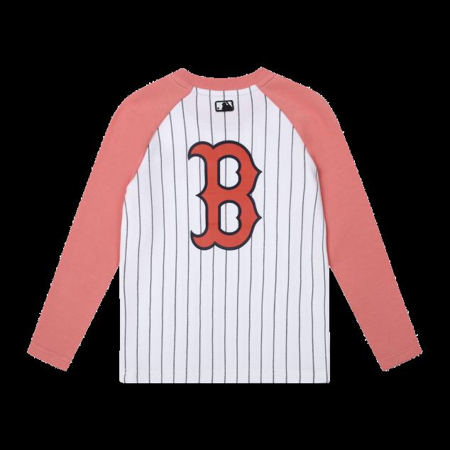 스트라이프 라글란 티셔츠 보스턴레드삭스