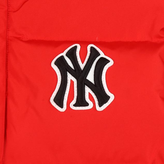 베이직 로고 덕다운 롱패딩 점퍼 뉴욕양키스
