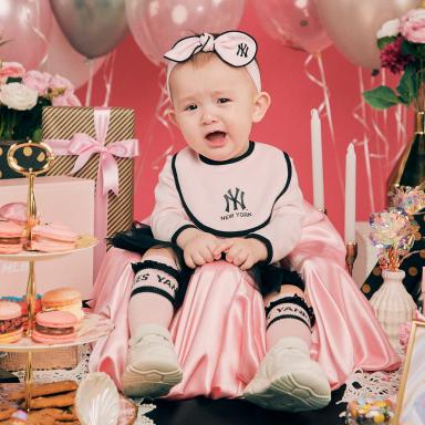 베이비 패키지 핑크 뉴욕양키스