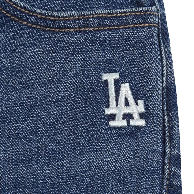 MLB키즈 세미배기핏 겨울 발열 청바지 LA다저스