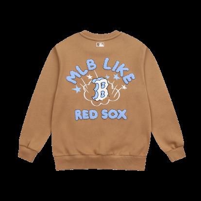 MLB LIKE 썬더스타 오버핏 기모 맨투맨 보스턴레드삭스