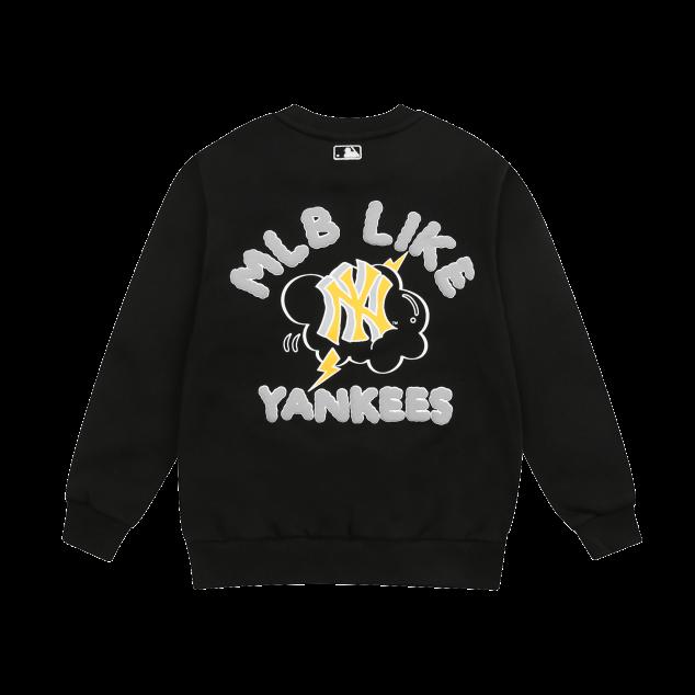 MLB LIKE 썬더스타 오버핏 기모 맨투맨 뉴욕양키스
