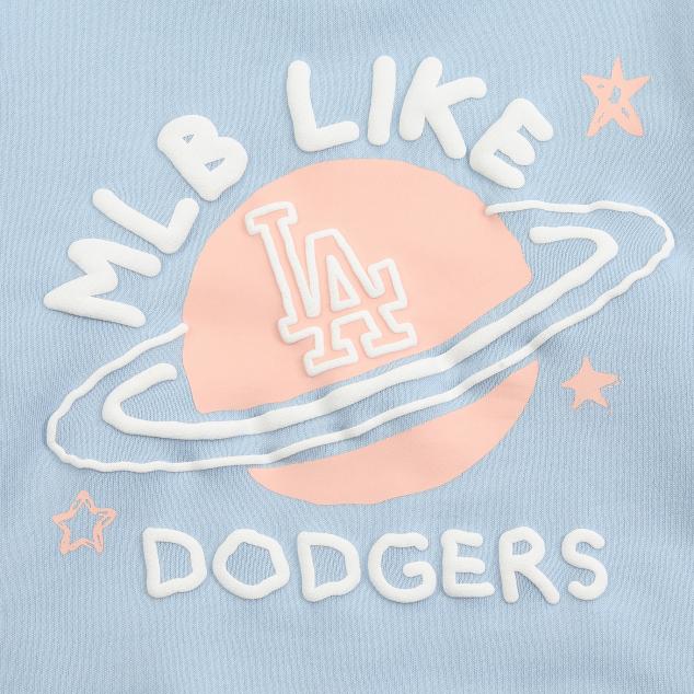 MLB LIKE 플래닛 오버핏 기모 맨투맨 LA다저스