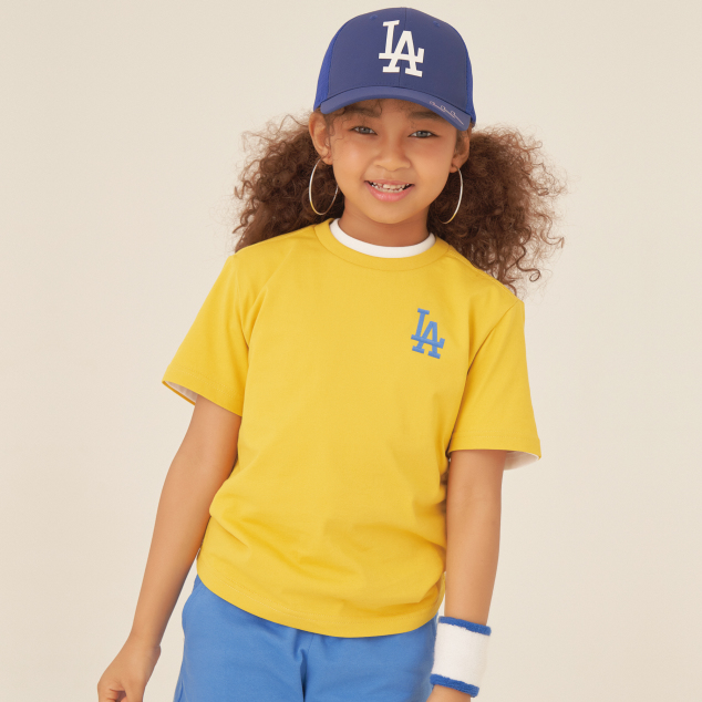 패밀리 프린트로고 티셔츠 LA 다저스