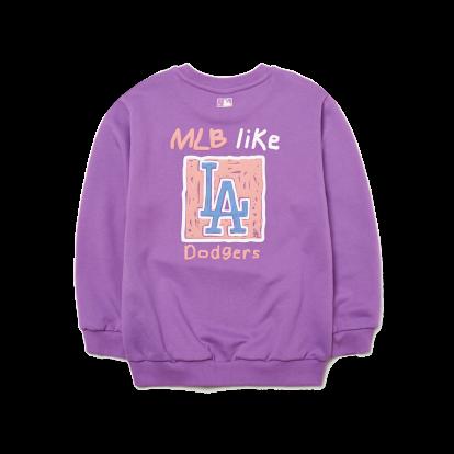 F. MLB LIKE 사각형(뒤) 맨투맨 LA다저스