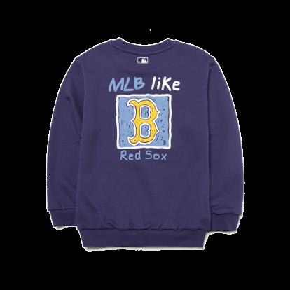 F. MLB LIKE 사각형(뒤) 맨투맨 보스턴 레드삭스