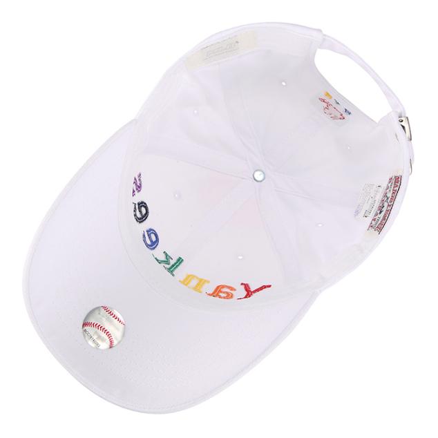 NEW YORK YANKEES RAINBOW WORDING BALL CAP