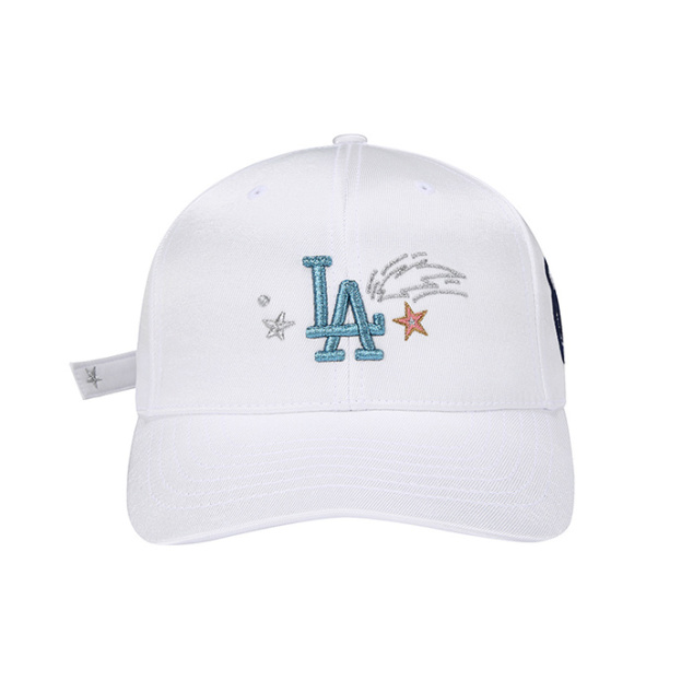 LA DODGERS STRAP POINT ANGRY BEAR ADJUSTABLE HAT