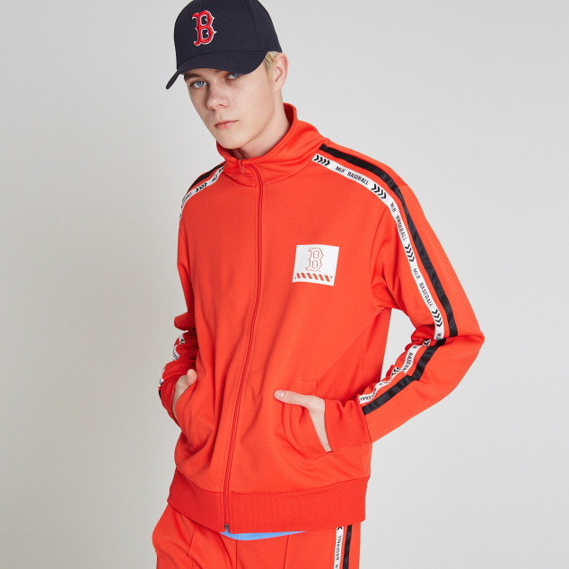 BOSTON RED SOX LINE TAPING BASIC TRAINING ZIP-UP