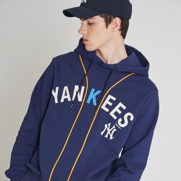 NEW YORK YANKEES BASEBALL INSPIRED LETTERING HOODIE