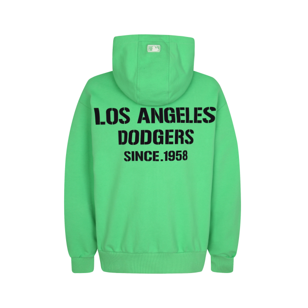 LA DODGERS SQUARE LOGO BASIC TRAINING ZIP-UP HOODIE