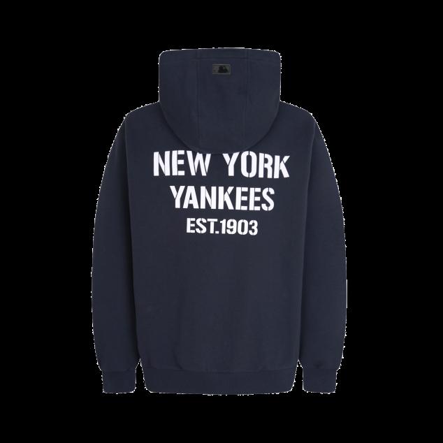 NEW YORK YANKEES SQUARE LOGO BASIC TRAINING ZIP-UP HOODIE
