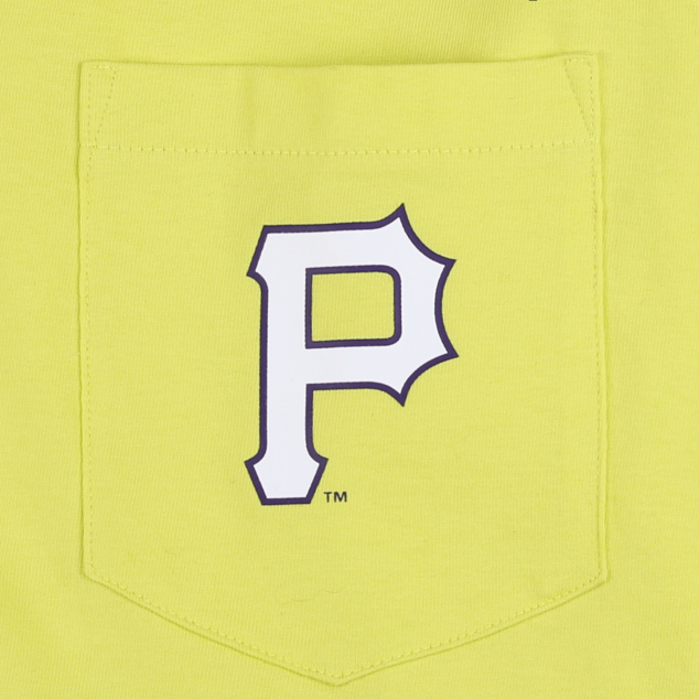 PITTSBURGH PIRATES POCKET LETTERING LONG SLEEVE T-SHIRT