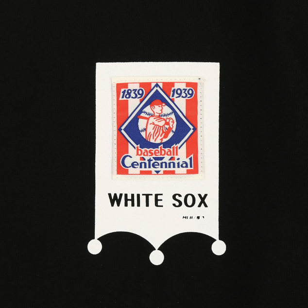 CHICAGO WHITE SOX BASEBALL LABEL SHORT SLEEVE T-SHIRT