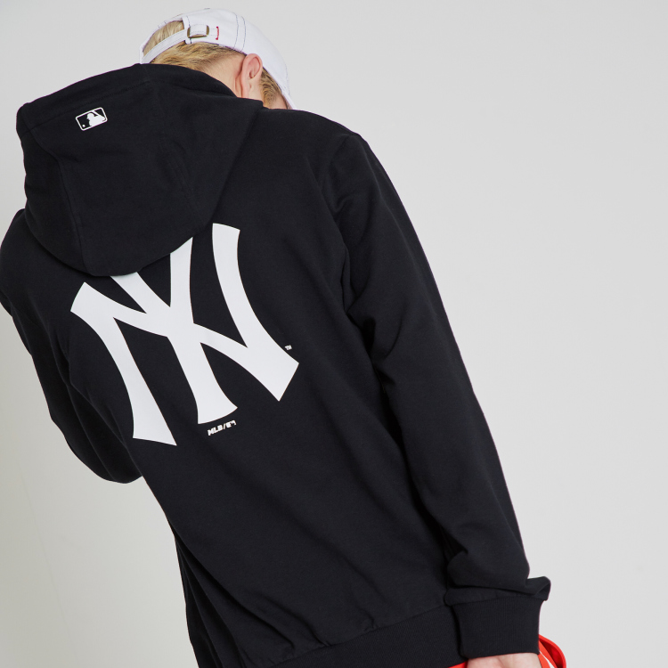 new style 31c0e 770ca NEW YORK YANKEES BACK BIG LOGO POINT HOODIE | 31HDR1911-50L ...