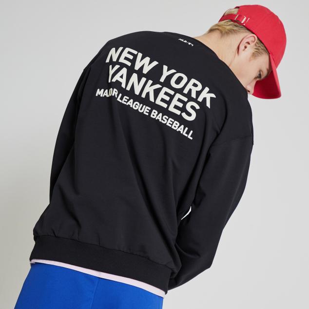 NEW YORK YANKEES OVERFIT SIMPLE LOGO SWEATSHIRT