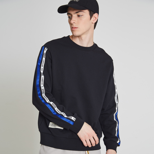 MLB POINT LABEL SLEEVE TAPING SWEATSHIRT