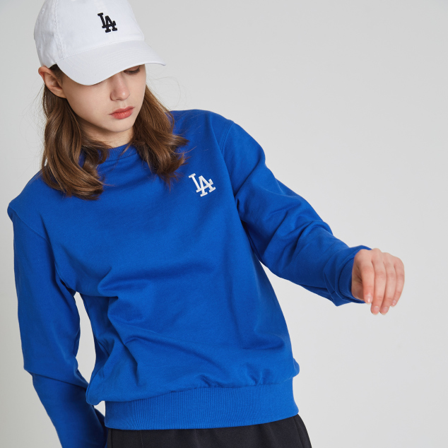 LA DODGERS BACK BIG LOGO POINT SWEATSHIRT