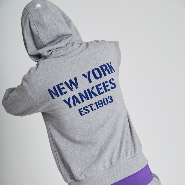 NEW YORK YANKEES SQUARE LOGO BASIC TRAINING ZIP-UP HOODIE