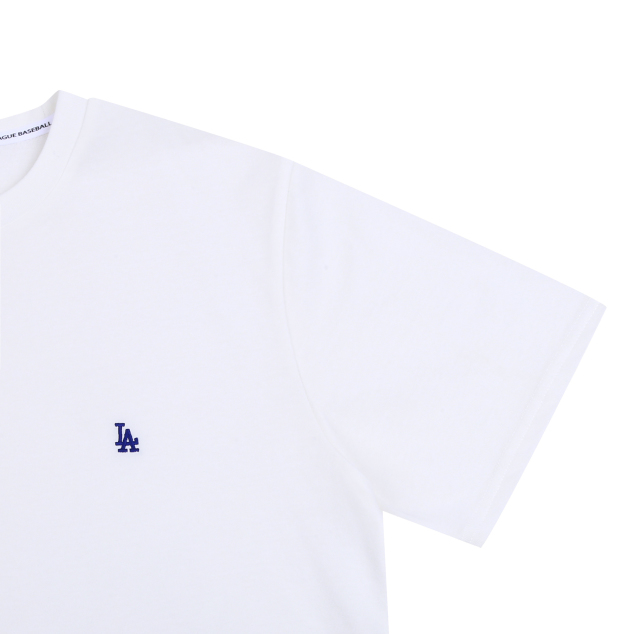 LA DODGERS SMALL EMBROIDERY LOGO BASIC SHORT SLEEVE T-SHIRT