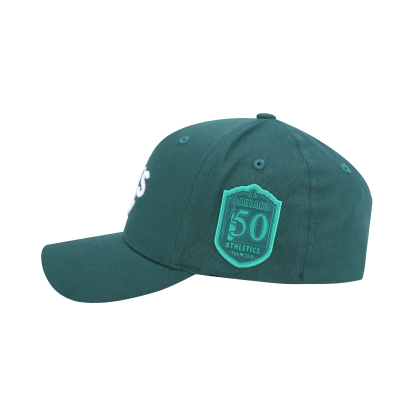 OAKLAND ATHLETICS ROUND PATCH CURVED CAP