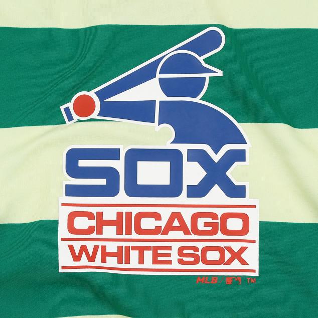CHICAGO WHITE SOX STRIPE COLOR RHYTHMICAL SWEATSHIRT