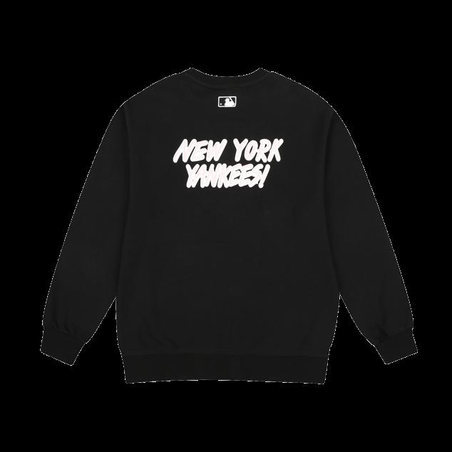 앞뒤 2도팝콘 오버핏 맨투맨 뉴욕양키스