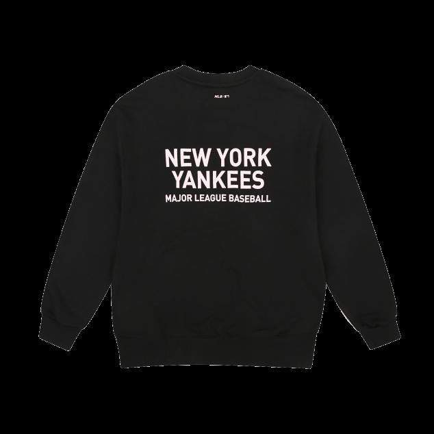 뉴욕양키스 기본 심플로고 오버핏 맨투맨