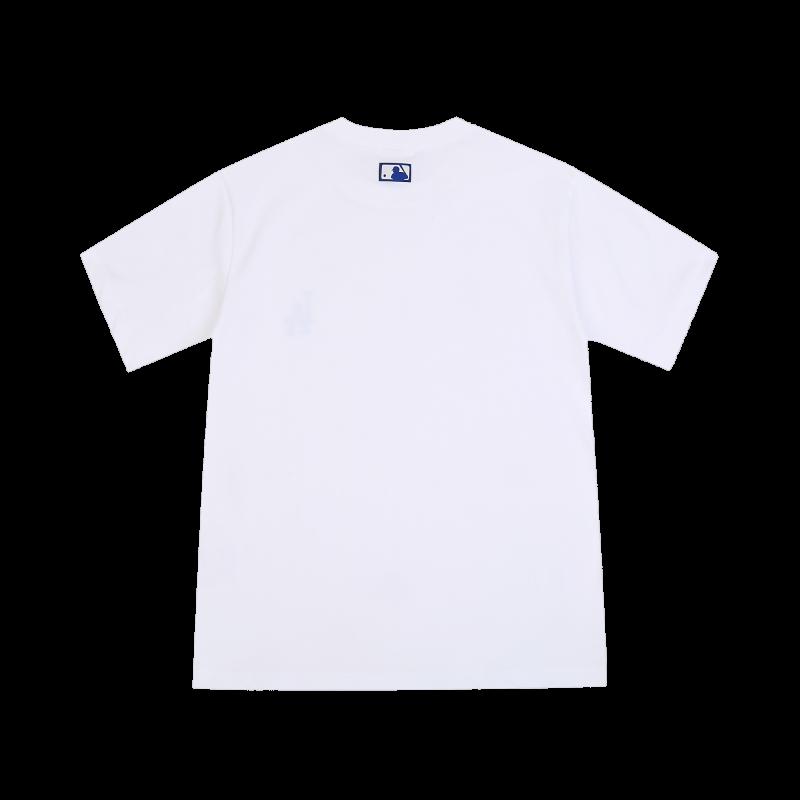 엠엘비(MLB) 자수 프린팅 베이직 티셔츠 LA (WHITE)