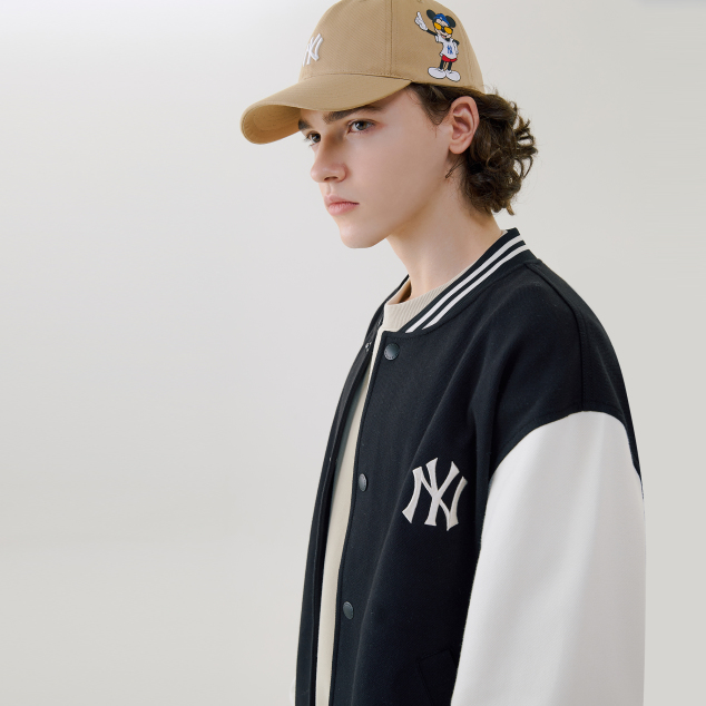 MLB X DISNEY 미키마우스 배색 베이스볼 점퍼 뉴욕양키스