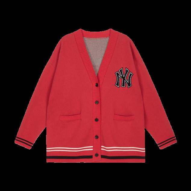 [현아착용]MLB x DISNEY 미키마우스 솔리드 가디건 뉴욕양키스