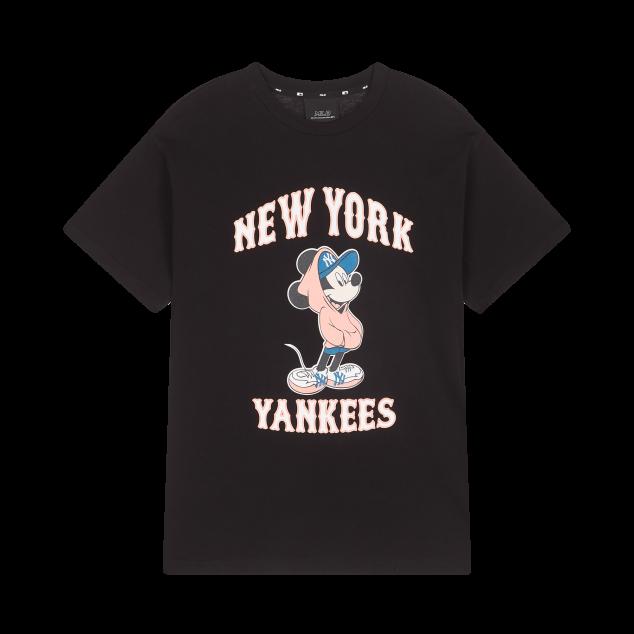 MLB X DISNEY 오버핏 반팔 티셔츠 뉴욕양키스