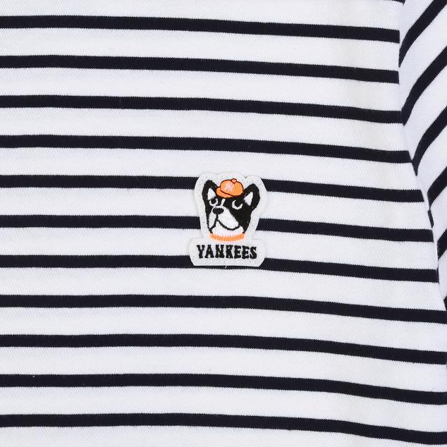 바크 스트라이프 반팔 티셔츠 뉴욕양키스